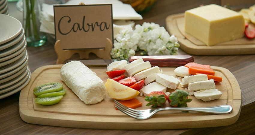 quesos en tabla